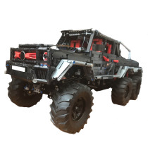 2832Pcs G-classe 6x6 MOC-27039 Off-road Vehicle Small Particles MOC RC Car Building Blocks Toy with 4 Motors - Dynamic Version (Licensed and Designed by OleJka)