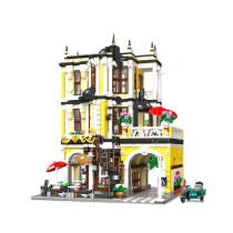 6355+Pcs European Building Small Particles England Red Brick University Model Building Blocks Toys