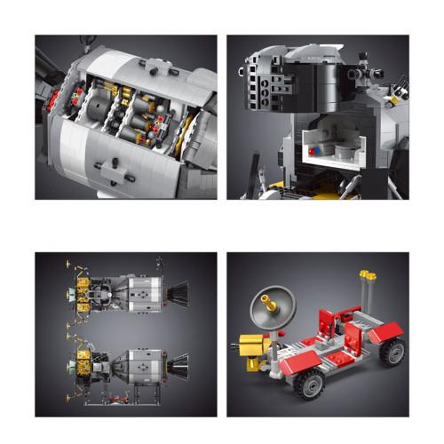 7106+Pcs Apollo Spacecraft Building Blocks DIY Bricks Toy