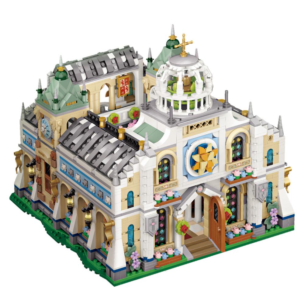 3308Pcs Street View Series Mini Particle Wedding Church Bricks Model Assembly STEM Building Block Toy