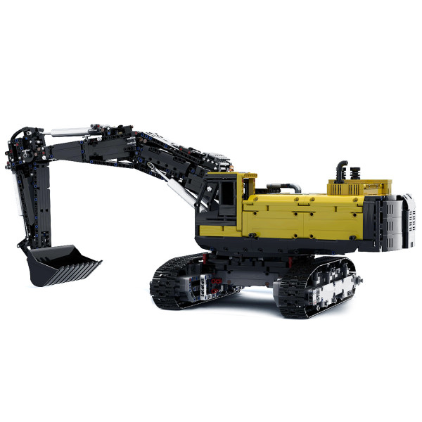 3797+Pcs MOC-43636 Engineering Series Crawler Excavator Small Particle Building Block Set Model (Licensed and Designed by Flybum60) - Dynamic Version