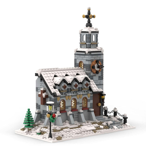 1074Pcs Little Winter Church MOC-58208 Model Kits Building Blocks Toy (Licensed and Designed by Little_Thomas)