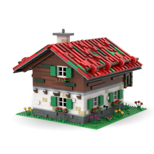 2490Pcs Medieval Customs House MOC-66732 Building Blocks Toys Compatible with 21325 Smithy (Licensed and Designed by Noggels) - without Figures