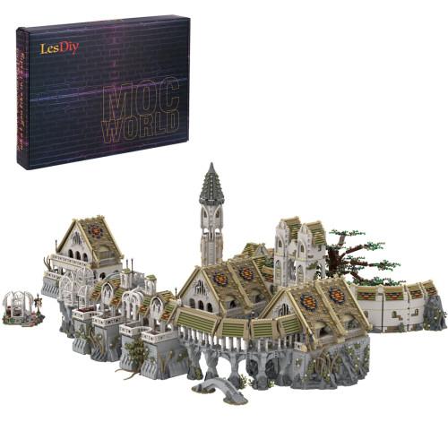 21067+Pcs MOC-62284 Magic Fairy Town Model Kits Small Particles Building Blocks Toy