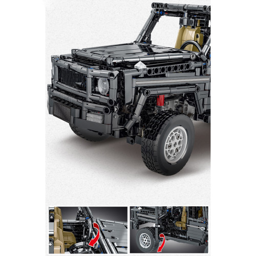 1850Pcs MOC Static Off-road Vehicle Bricks Model Assembly Building Block Car Set (This Product is not manufactured or sold by Lego, and have nothing to do with Lego)