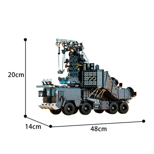 3027Pcs Noisy Truck Bricks Model Creative Moc Building Block Toy (This product is not manufactured or sold by Lego and has no connection with Lego)
