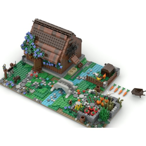 1462+Pcs MOC Forest Hut Small Particles Building Blocks Assembly Toys (This product is not manufactured or sold by Lego and has no connection with Lego)