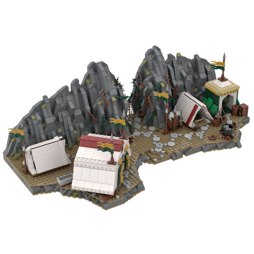 1734+Pcs MOC-78364 Battle Scene Valley Camp Model Kits Small Particles Building Blocks Toy (This Product is not manufactured or sold by Lego, and have no connection with Lego)