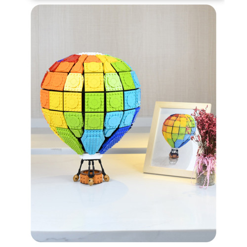 2550Pcs Romantic Street View Rainbow Hot Air Balloon Building Block Model Toys (This product is not manufactured or sold by lego and has no connection with lego)