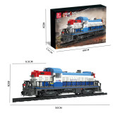 2399+Pcs-Doomsday-Scene-Steam-Train-Small-Particles-Building-Blocks-Assembly-Toys-Set-with-Train-Track---Static-Version