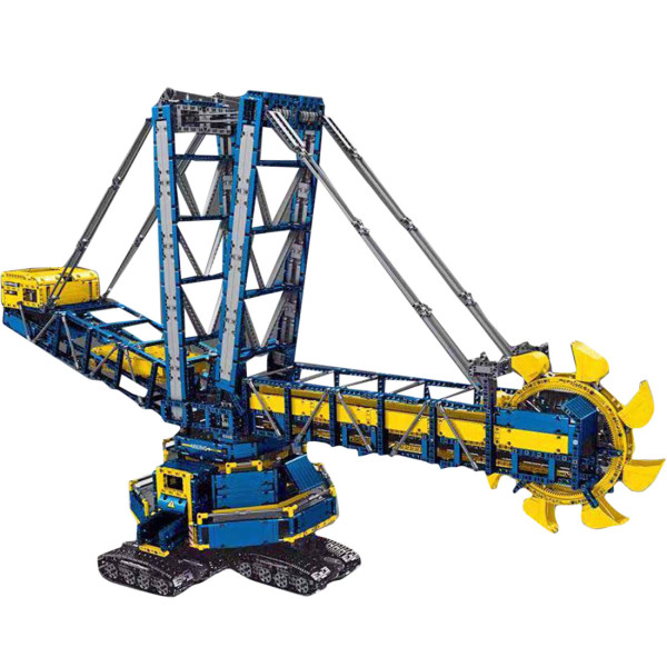 4588+Pcs Engineering Series RC Bucket Wheel Excavator Toys Small Particle Assembly Building Block Set Model