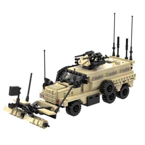 685Pcs Modern Military Series Lightning Protection Vehicle Bricks Model Kits Small Particle Assembly Building Blocks Stem Toys