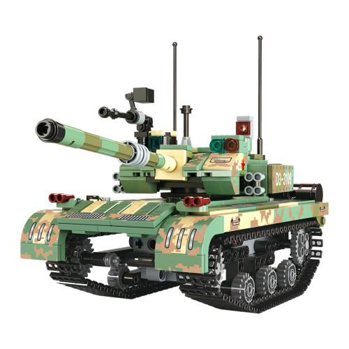 486Pcs MOC Bricks Intelligent RC Tank Set Remote Control / APP Control Building Blocks Tank Toys