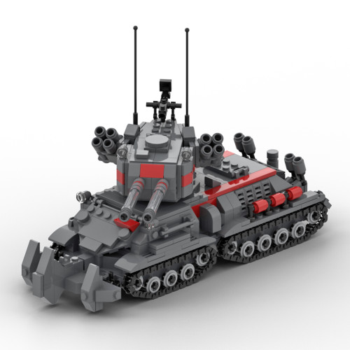 704Pcs Static MOC Military No.138 Heavy Apocalypse Tank Bricks Kits Small Particle Building Blocks Set