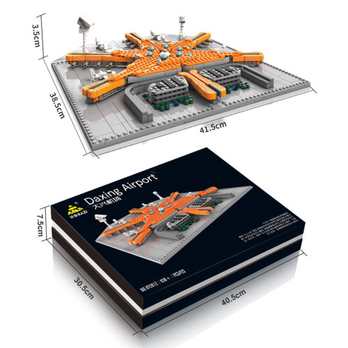 930Pcs Modern Style Airport Street View Building Small Particle Building Block Model Kits (This product is not manufactured or sold by Lego and has no connection with Lego)