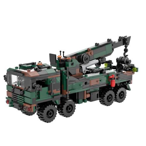 670Pcs Modern Military Series Crane Bricks Model Kits Small Particle Assembly Building Blocks Stem Toys - Camouflage