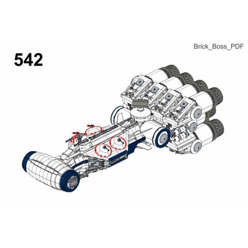 2295Pcs The Corellian Corvette MOC-79356 Space Wars Building Blocks MOC Kit (Licensed and Designed by Brick_boss_pdf)