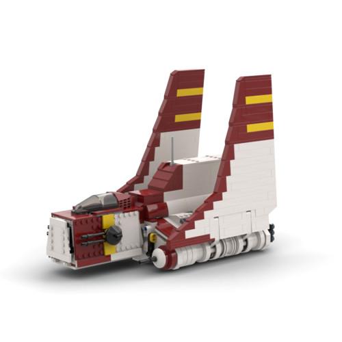 830Pcs The NU-Class Clone Shuttel MOC-65355 Space Wars Building Blocks MOC Kit (Licensed and Designed by Brick_boss_pdf)