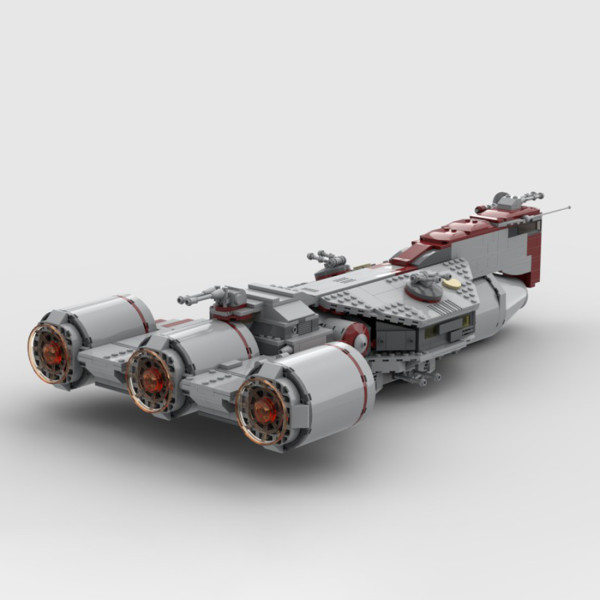 1207Pcs The Consular-class Cruiser MOC-80689 Space Wars Building Blocks MOC Kit (Licensed and Designed by Brick_boss_pdf)