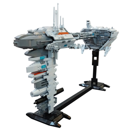1385Pcs EF76 Nebulon-B Escort Frigate with Micro Falcon MOC-34757 Space Wars Sci-Fi Spaceship Building Blocks MOC Kits (Licensed and Designed by Rubblemaker)