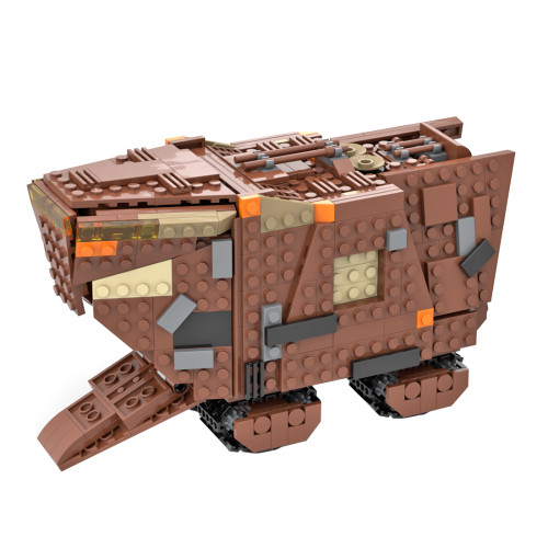 828Pcs Assembly Decoration Building Block MOC Space War Desert Creeper Vehicle Model MOC-51724 (Designed and Authorized by Albo)
