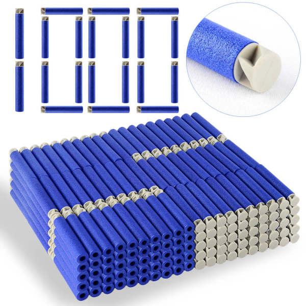 1000Pcs Soft Darts Flat Soft Head Foam Bullets for Nerf N-strike Elite Series -Blue