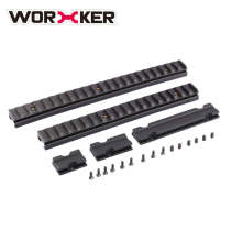 Worker 41CM Full-covered Grooved Top Rail Mount Kit for Nerf N-Strike Elite Retaliator Blaster - Black