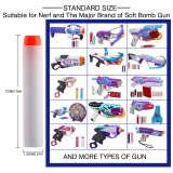 1000pcs Fluorescence Soft Bullet Universal Standard Round Head Hollow Foam Bullets