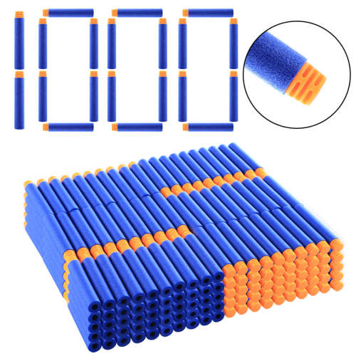 1000Pcs High Buffered Soft Bullet Flat Head Soft Darts for Nerf - Orange Head