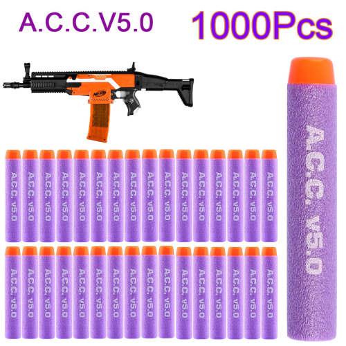 1000pcs Acc v5.0  Hard Head Soft Darts for Nerf N-strike Elite Series