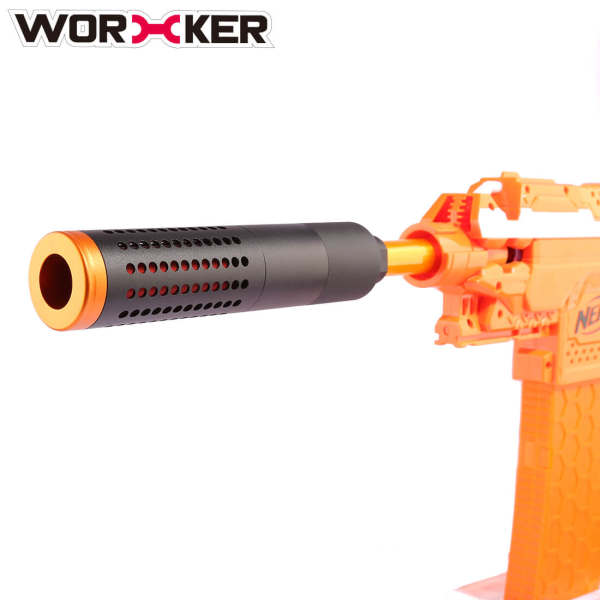 Worker Combined Inner Pipe L Aluminum Alloy front barrel Decorator for Nerf