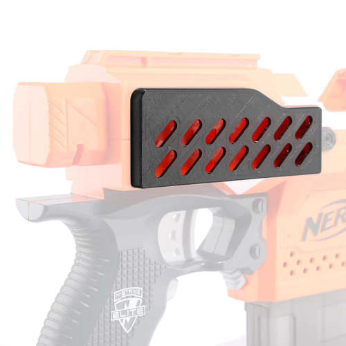 Worker f10555 3D Printed Extended Battery Cover+Hand-tightened Screw for Nerf Stryfe