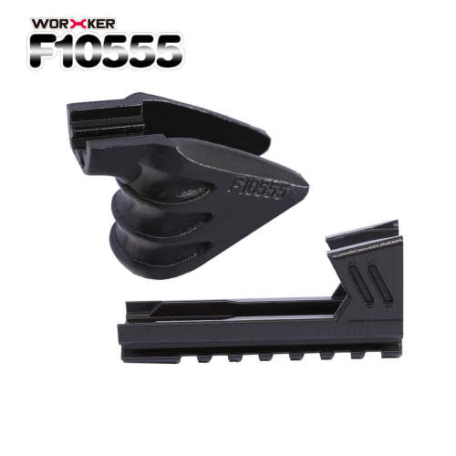 Worker F10555 3D Printing Inclosed Type Bottom Rail+Decorative Holder Grip for Nerf Stryfe - Black