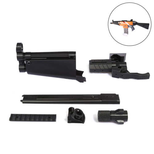 Worker f10555 3D Printing Modularized NO.114 MP5-A barrel Kit for Nerf Stryfe