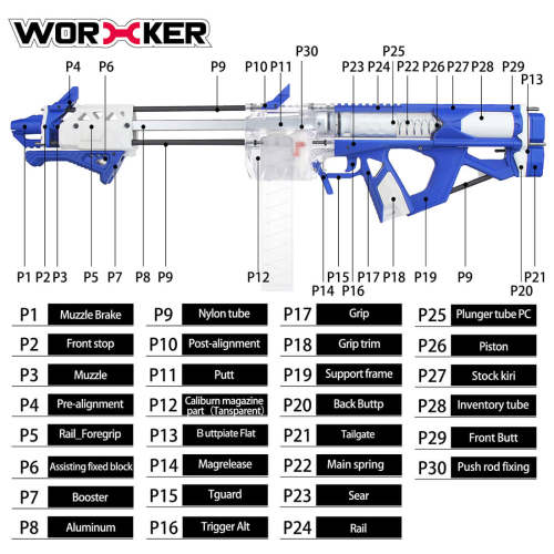 Upgrade Worker F10555 No.209 Caliburn Blaster - Blue White