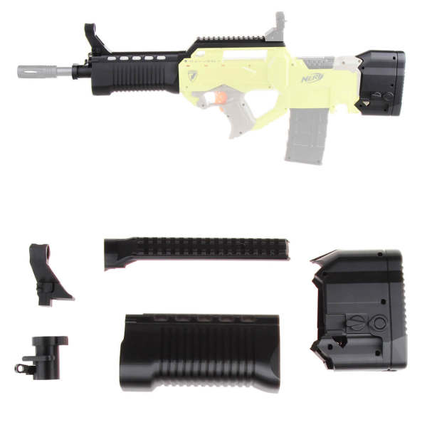 Worker F10555 No.207 Noctilucence 95 Barrel Kit Rayven stock kit for Nerf N-Strike Rayven CS-18