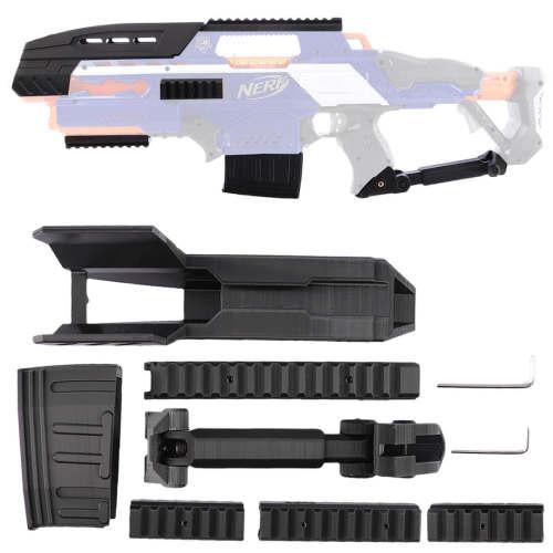3D Printing Modification Kit for Nerf CS-18 N-Strike Elite Rapidstrike - Black