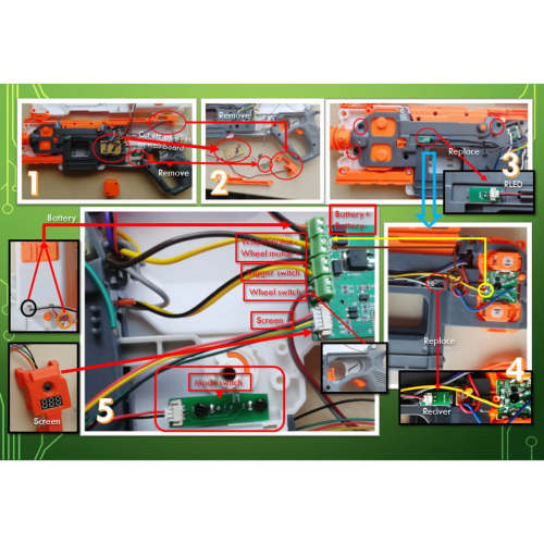 Motherboard Kit for Repairing and Upgrading of NERF modulus Regulator C1295 Regulator