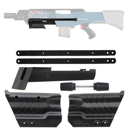 Worker F10555 No.191 Pull-down Kit Pump kit for Nerf ZED Squad Longshot - Black