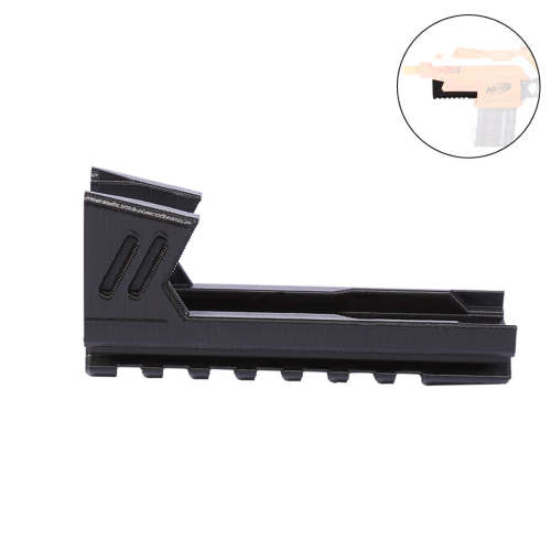 Worker F10555 3D Printing Inclosed Type Bottom Rail for Nerf Stryfe - Black