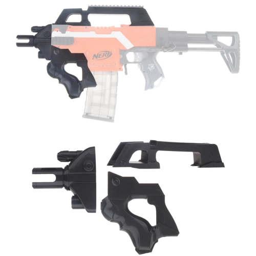 Worker F10555 3D Printing No.193 Thunder Type Front Tube Kit for Nerf Stryfe - Black