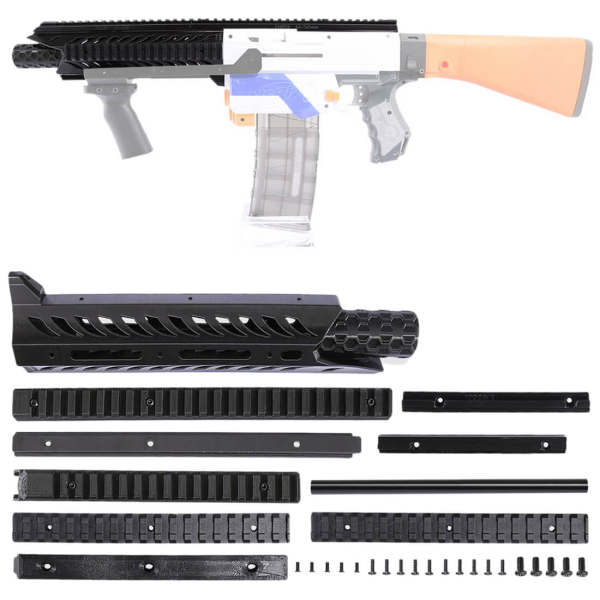 Worker F10555 3D Printing Viper front barrel Kit with 35CM Plastic Straight Grained Pipe for Nerf