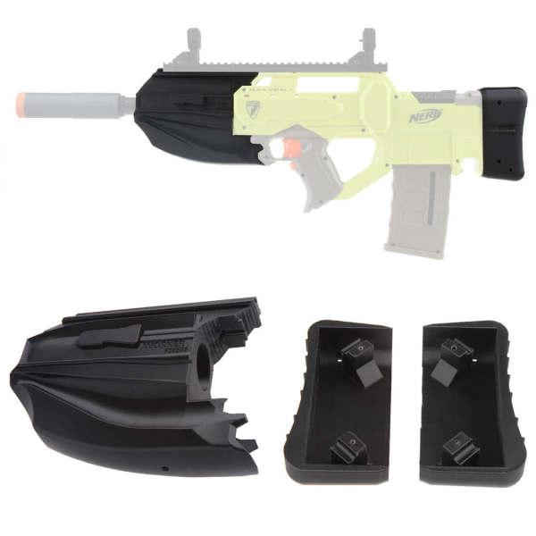 Worker No.203 FN F2000 Barrel Sets for Nerf N-Strike Rayven CS-18 Blaster - Black