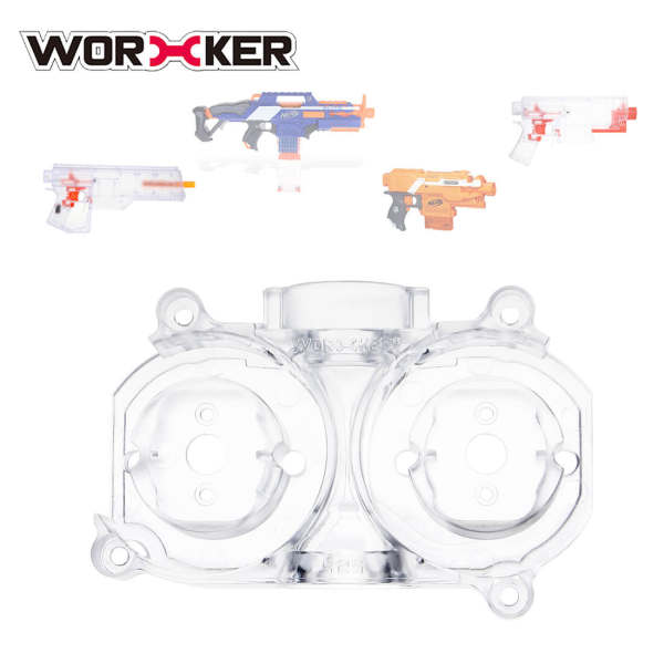 Worker 425 PC Flywheel Cage Parallel and Canted Flywheel Cage for Nerf Stryfe/Nerf Rapidstrike CS-18/Worker Swordfish/ Worker Dominator
