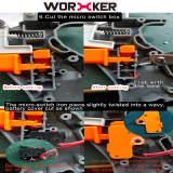 Worker Hyperfire Flywheel Kit for Nerf HyperFire (Diamond Pattern)