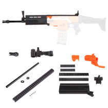 Worker f10555 No.152 Scar Barrel Kit Type A for Nerf Stryfe - Black Type B