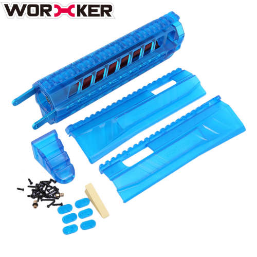 Worker Modified Integrated Built-in Front Pull-down Kit for Nerf Retaliator - Transparent Blue