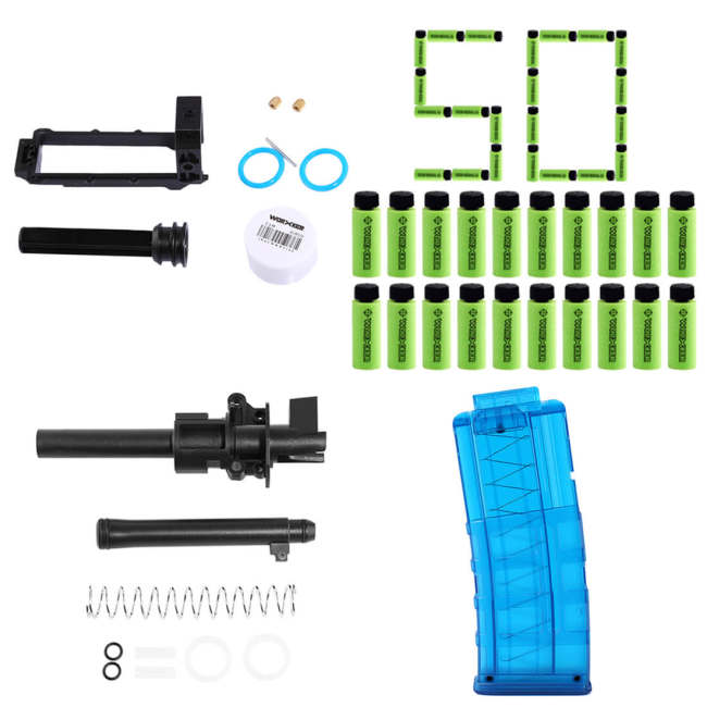 Worker Modified Device Kit Carriage Final Stage Kit 50Pcs Short Bullet 12-Dart Mag clip