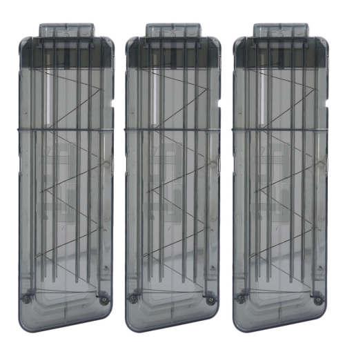 3pcs 15-Dart Ammo Cartridge Magazine Clip Soft Bullet Clip for Nerf - Black