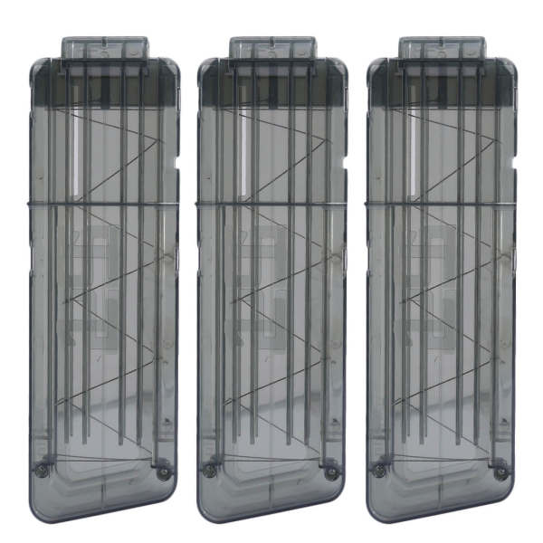 3pcs 15-Dart Ammo Cartridge Magazine Clip Soft Bullet Clip for Nerf - Black